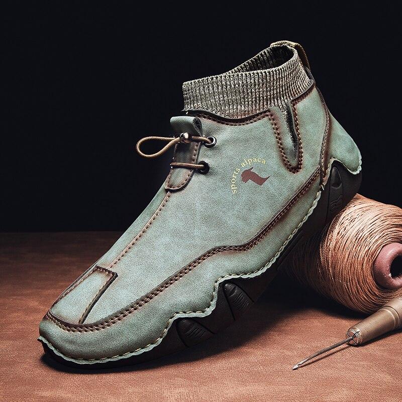 2021 جديد الربيع والخريف أحذية رجالي موضة عادية أحذية رجالي أحذية قيادة تنفس مهرج المد حذاء رسمي