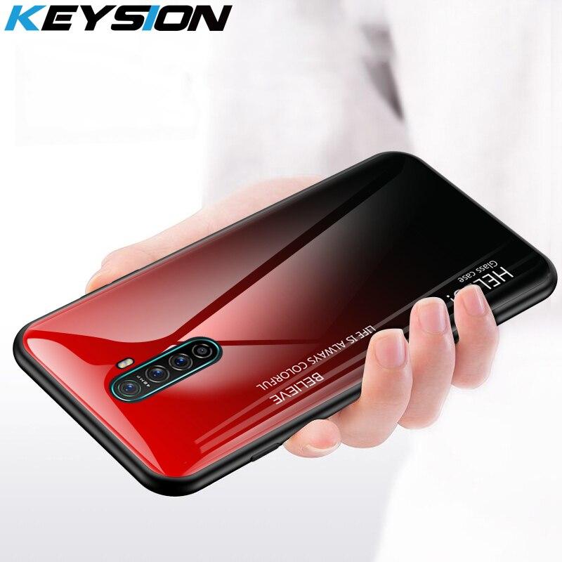 Чехол из закаленного стекла для OPPO Realme X2 Pro XT X, силиконовый чехол для задней панели телефона Reno Ace Realme 3 5 Pro Q C2