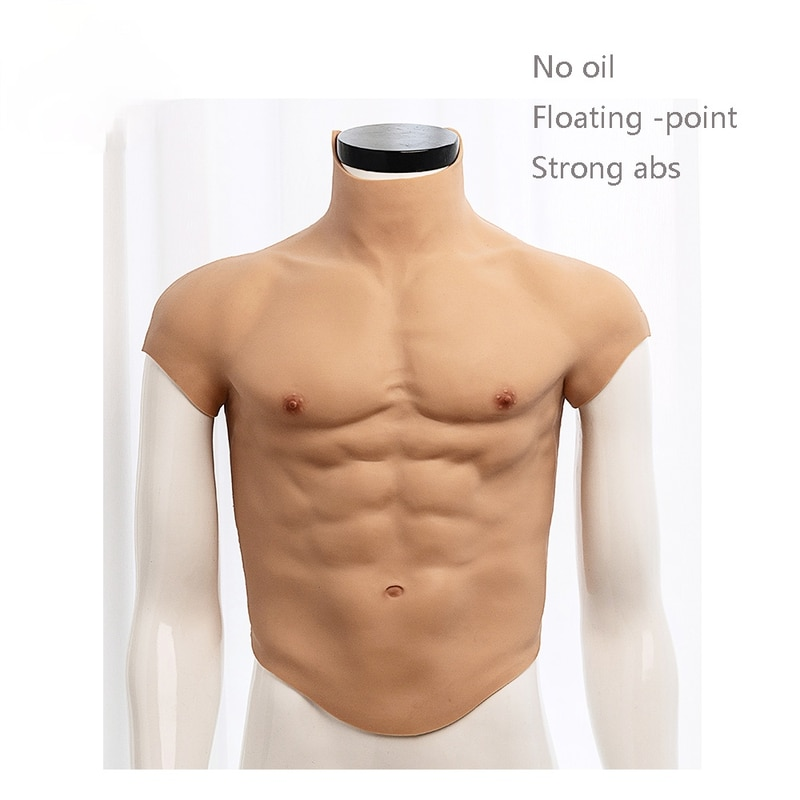 Suitable for Role-playing Realistic Silicone Fake Muscles Fake Belly Simulation of Muscle Men Chest Crossdressers Machos