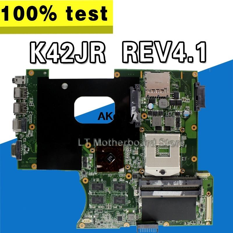 K42JR placa base REV4.1 para For Asus K42 X42J K42J K42JR placa base de computadora portátil K42JR placa base K42JR placa base de prueba 100% OK