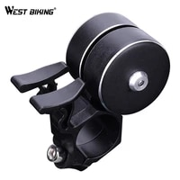 west biking double gun bike bell for bicycle horn sound alarm mtb road bike handlebar cycling safety rings bell bike accessories