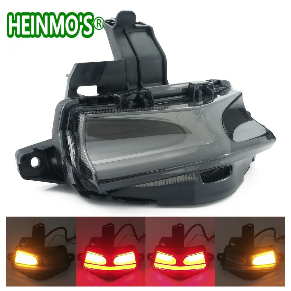 Para yamaha nvx155 nvx125 nvx 155 125 aerox155 aerox gdr 155 traseiro cauda lâmpada de freio sinais volta integrado luz led
