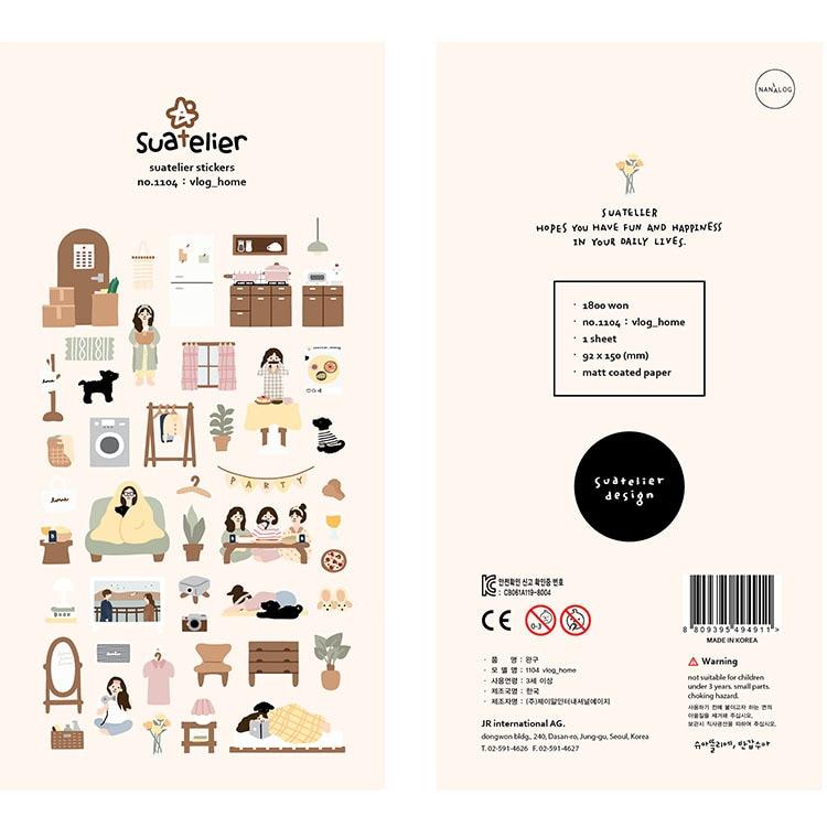 Koreanische Marke Sonia Meine Täglichen Vlog zu Hause Aufkleber DIY Scrapbooking Tagebuch Schreibwaren Aufkleber Liefert