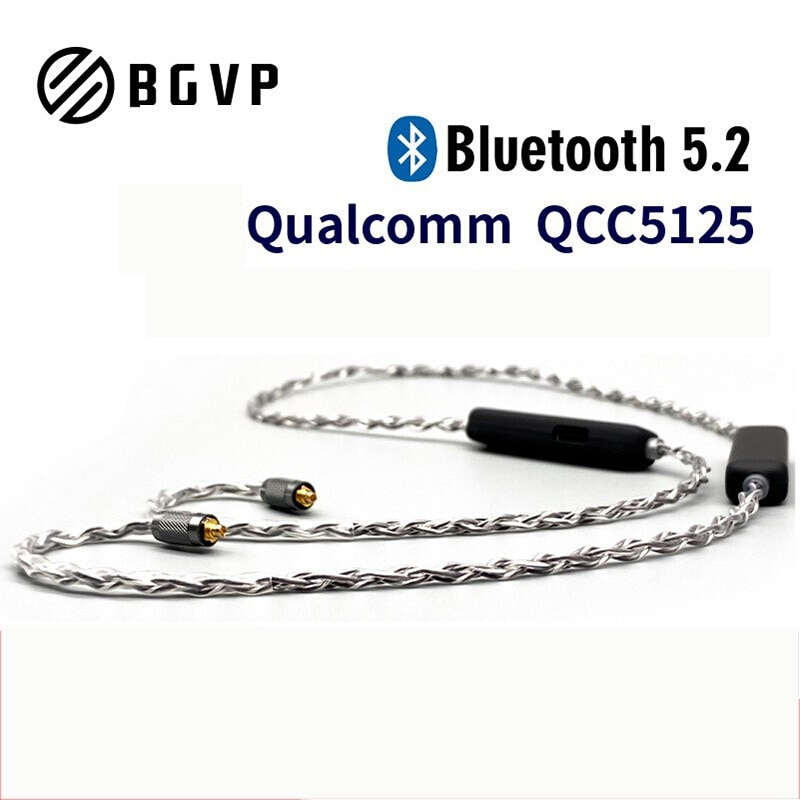 BGVP M2 Ture Wireless Bluetooth 5.1 APTX QCC5125 Chip MMCX Waterproof Sport Earbuds Cable Support Aptx-ll AAC Adaptive Coding