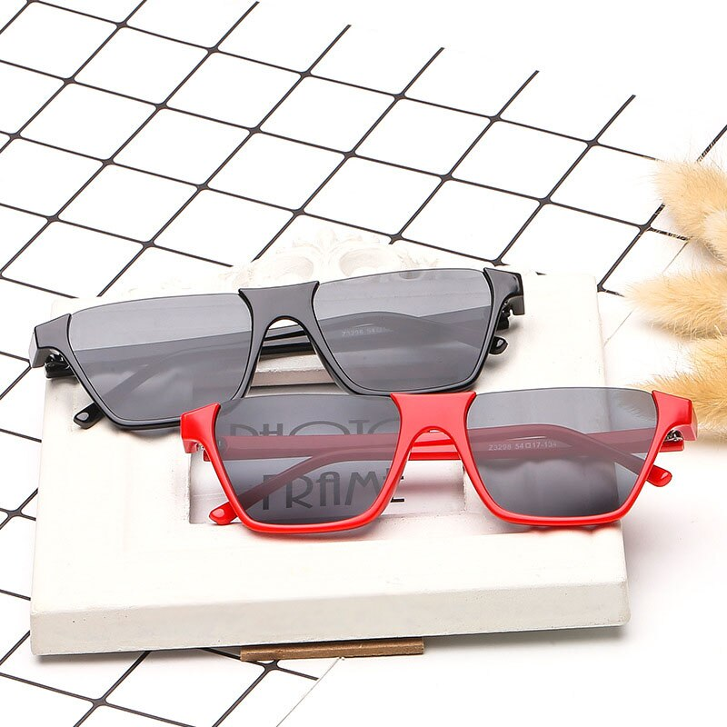 Semi-Rimless Women Square Sunglasses Designer Lady Sun glasses Vintage PC Classic Luxury Designer Sh