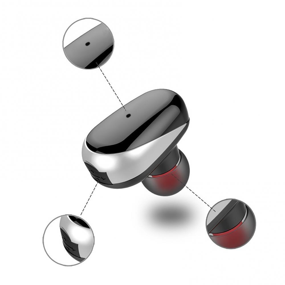 50% Off Universal L3 Mini Wireless Bluetooth 5.0 Sports Headset In-ear Earphone Earplugs Handsfree B