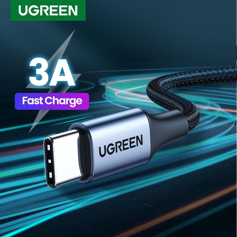 UGREEN-Cable USB tipo C para móvil, conector de carga rápida para Samsung...