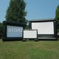inflatable movie screen 3 5mx2 5m projector projection movie cinema screen for home party backyard stadium park outdoor