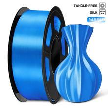 Filament PLA soie 1kg 1.75mm couleur brillante Texture de soie dureté élevée diamètre tolérance 0.02mm FDM 3D imprimante matériel dimpression