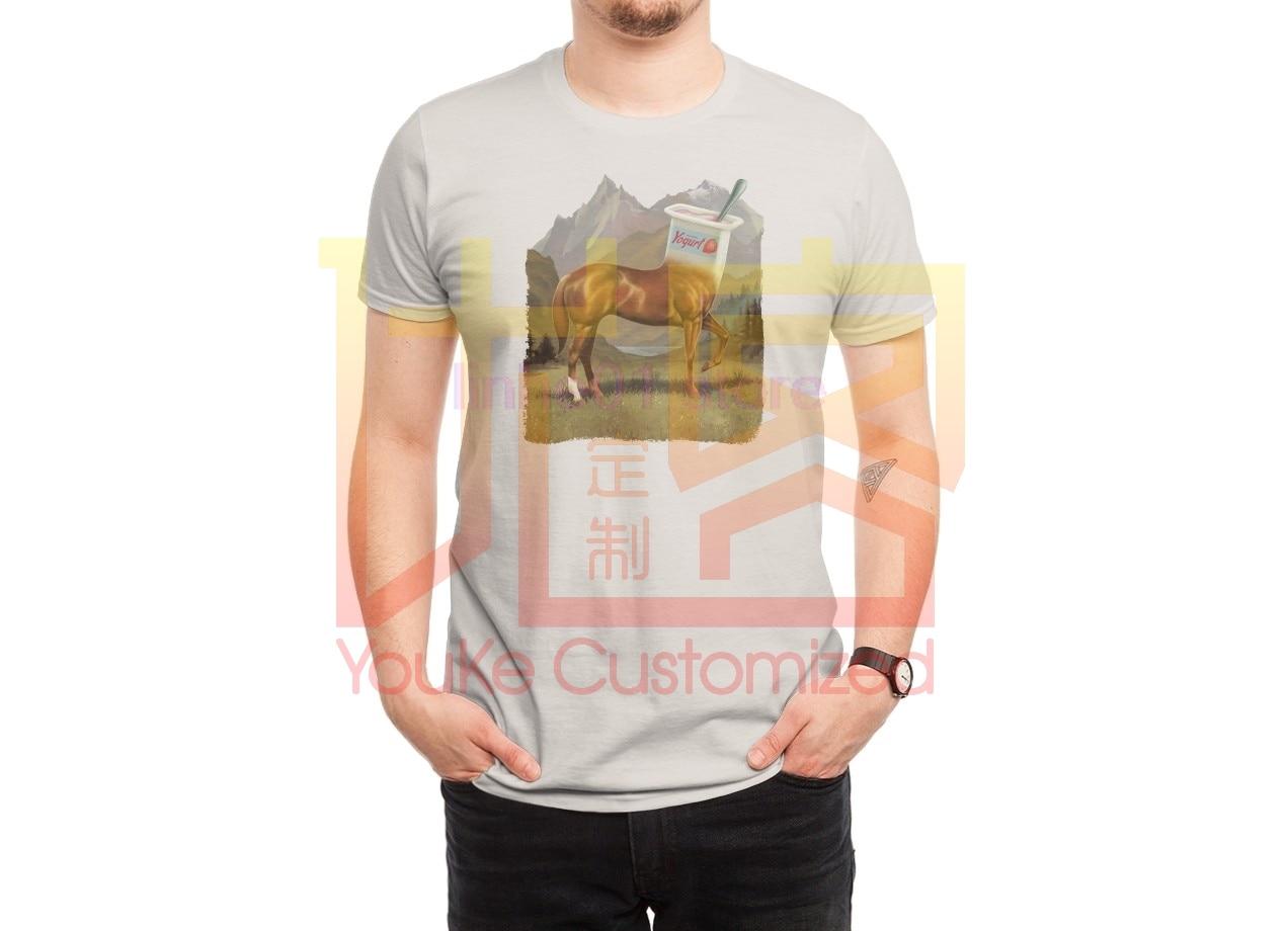 2019 moda marka męska koszulka pół konia pół jogurt koszula