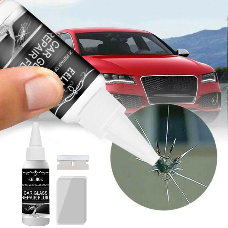 30ml Automotive Glass Repair Fluid Kit Car Window Windshield Glass Crack Chip Repair Tool Kit Car Universal Wash & Maintenance