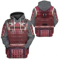 samurai armour 3d printed men for women hoodies streetwear fashion hoodiesweatshirts unisex jacket cosplay costumes