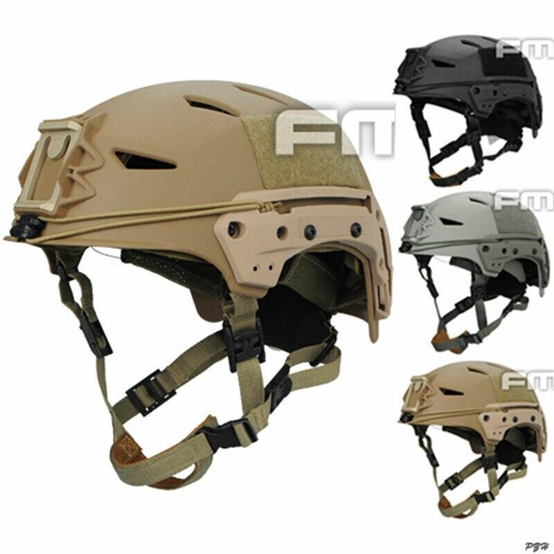 Casco FMA Tactical MIC FTP BUMP EX Airsoft, sistema Simple negro/arena/gris