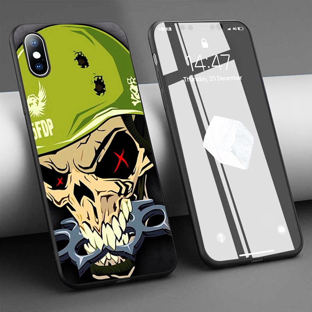 Coque five finger death punch cráneo suave de la caja del teléfono de silicona para iPhone 11 Pro Max X 5S 6 6S XR XS Max 7 8 Plus caso