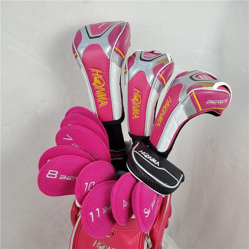 Honma S-06 4 Star Golf Club Women's Golf Clubs Set Driver + Fairway + Iron + Putter Graphite Shaft Free Shipping