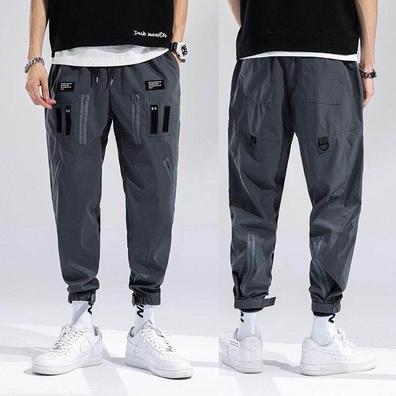 Брюки-карго мужские, уличная одежда, брюки, мужские повседневные летние брюки, шаровары, мужские мешковатые брюки, модные повседневные штан...