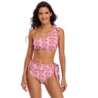anime bikini swimsuit with ties trendy swim swimwear youth bulk 2 piece bathing suit