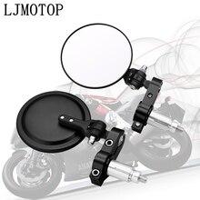 Universal Motorcycle Mirrors 3 Inch Round Folding Bar End Side Mirror for Honda CBR500F CBR500X RC51 CBR929RR CBR600RR CBR954RR