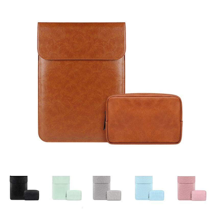 PU Leather Laptop Sleeve Bag 11.6-12 13.3 14.1-15.4 Inch Waterproof Notebook Case Sleeve For Macbook