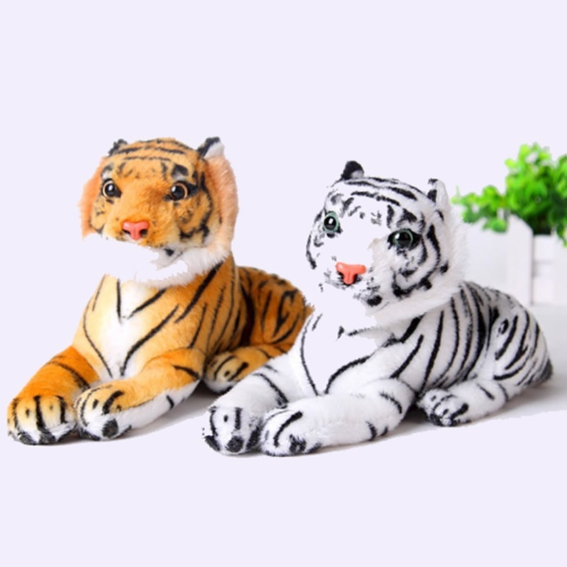 HOT Real Life Tiger Plush Toy Soft Stuffed Animals Doll Baby Kids Holiday gifts Soft Stuffed Toys Mo