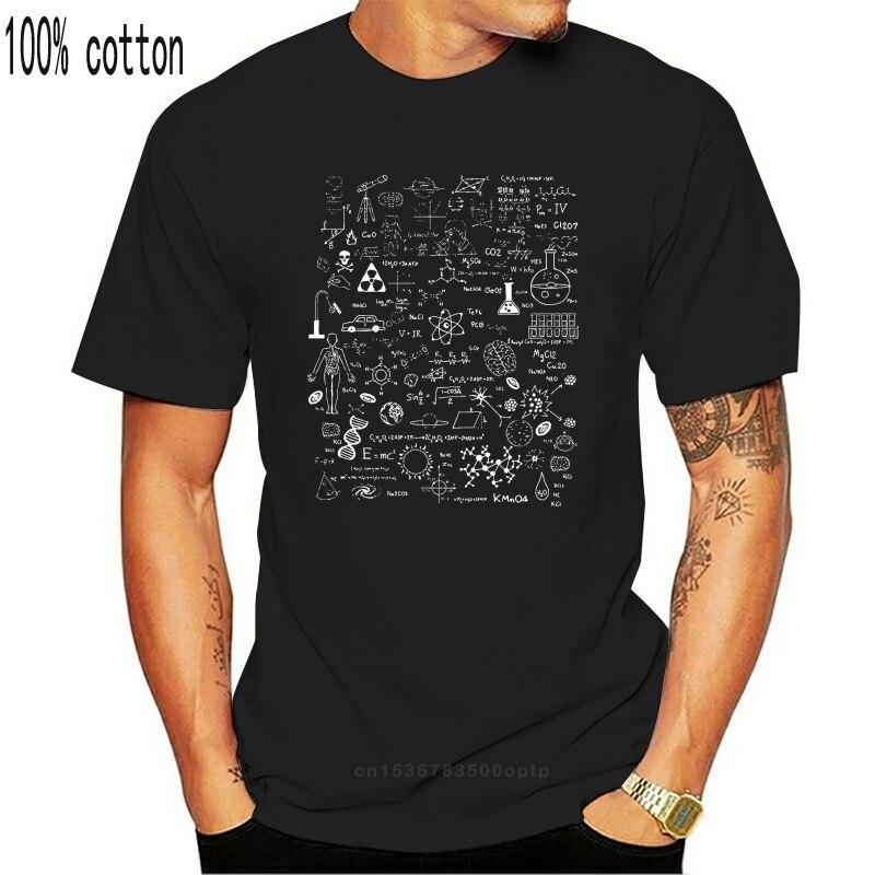 2020 moda masculina t camisa ciência física matemática química biologia astronomia t camisa