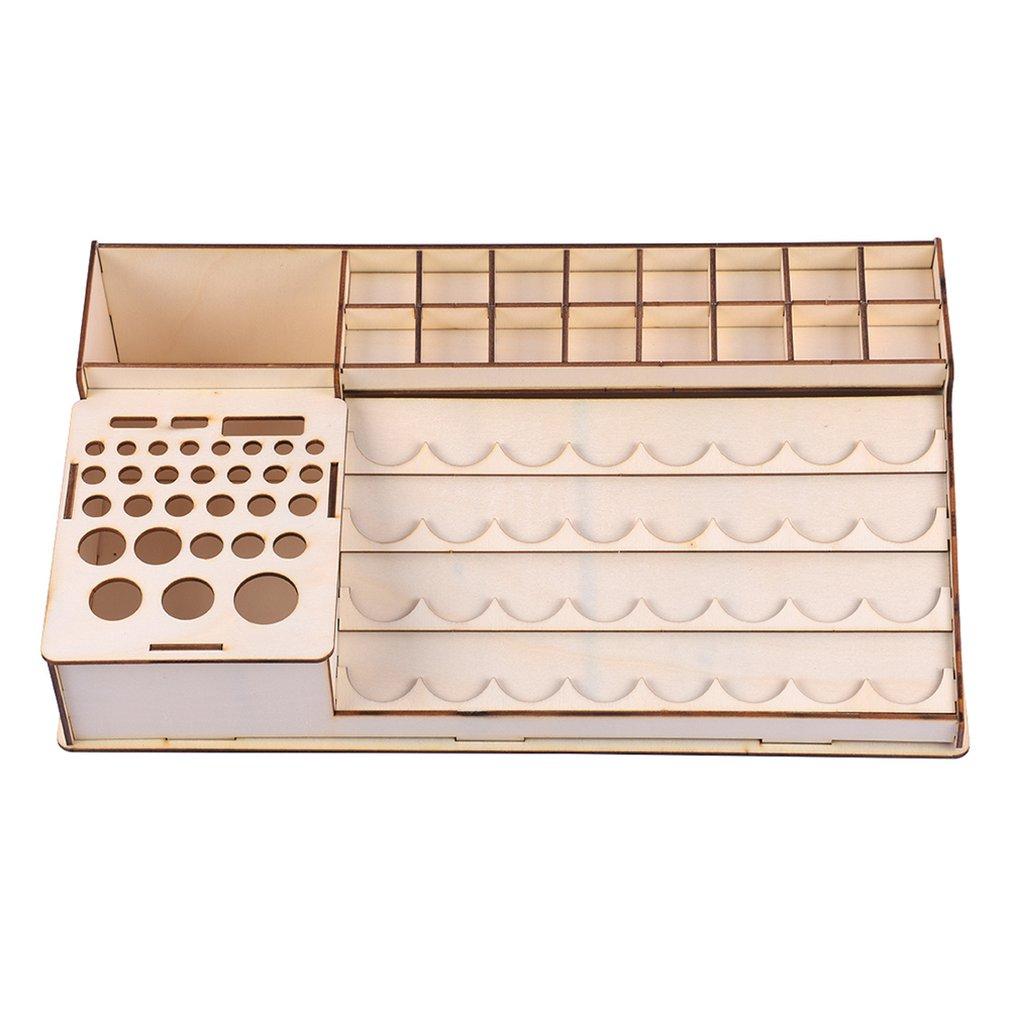 304 botellas de pintura de madera estante de almacenamiento titular Modular maestro caja de pintura organizador herramientas de almacenamiento