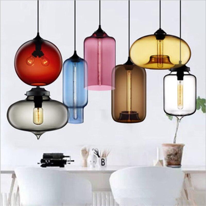 زجاج إبداعي نجفة الحديثة قلادة ديكور الإضاءة مصباح قلادة لغرفة النوم غرفة المعيشة غرفة العشاء بار القهوة