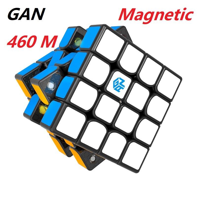 Rompecabezas de cubo mágico GAN460 M 4x4x4 versión magnética 4x4x4 velocidad 4x4 Gan 460 M juguetes educativos profesionales para niños
