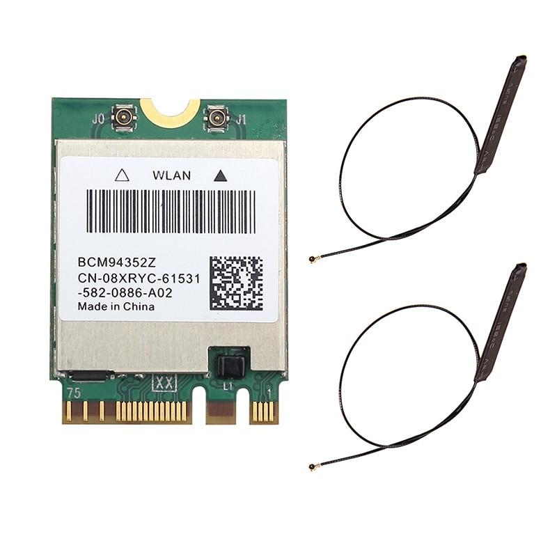 Wifi cartão bcm94352z com antena 1200mbps 5g/2.4g banda dupla bt4.0 m.2 apoio airdrop para mac hackintosh