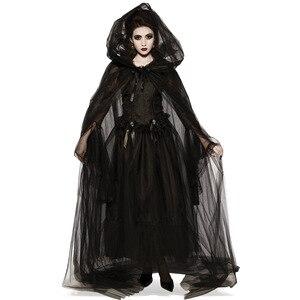 Code Halloween Death Hell Goddess Witch Demon Vampire Uniform Dress Black Dress Dance Party halloween costumes for women