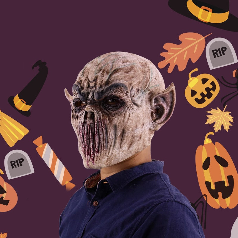 Halloween Mask  Horrible Ghastful Mask Creepy Scary Mask Realistic Monster Mask Masquerade Supplies