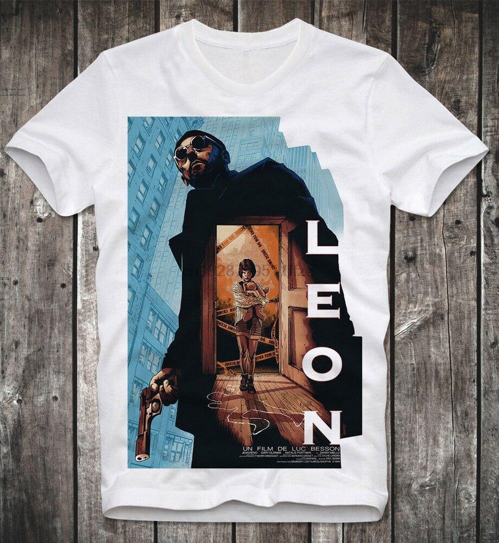 Camiseta Leon el profesional Der Profi Jean Reno Nathalie Portman Cult Retro nuevo Cool camiseta