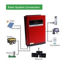 Onduleur hybride solaire à onde sinusoïdale Pure 5000W   Chargeur à panneau solaire 80A et chargeur ca tout en un pour entrée solaire Max 4000W 500V