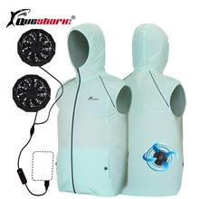 Été ventilateur refroidissement climatisation vêtements refroidissement pêche gilet costumes extérieur résistant au soleil vêtements réfléchissant pêcheur gilet