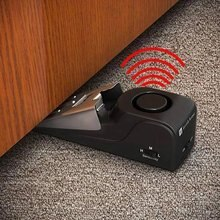 120 Db Stop System Security Home Wedge Shaped Door Stop Stopper Alarm Block Blocking Systerm For Home Dormitory Safety