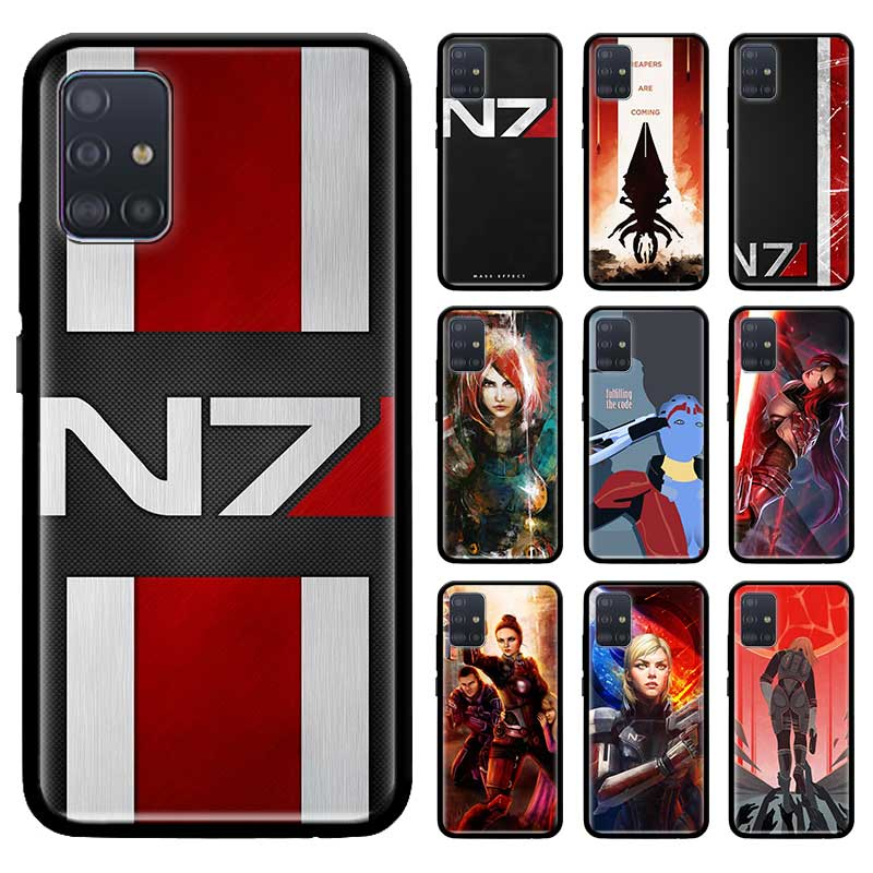 Negro Tpu Capa para Samsung Galaxy A51 A71 5G M51 M30s A41 A31 A21s A11 M31 casos cubierta suave Cas N7 efecto de masa