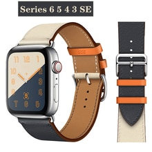 Leather strap for Apple watch band 44mm 40mm iWatch 38mm 42mm Single tour watchband bracelet for apple watch SE series 6 5 4 3 2