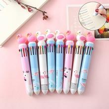 Lovely Flamingo Ballpoint Pen. Graffiti Pen 10 Colors Press Bullet Point Ballpoint Pen Signature Pen