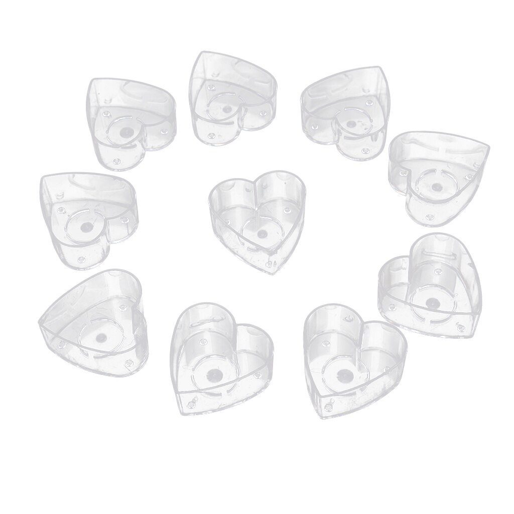 10 Pieces Heat-Resistant Clear Tea Light Container Cups Love Heart Candle Mold Handmade Wedding Decor Candles Craft Mold Tools  - buy with discount