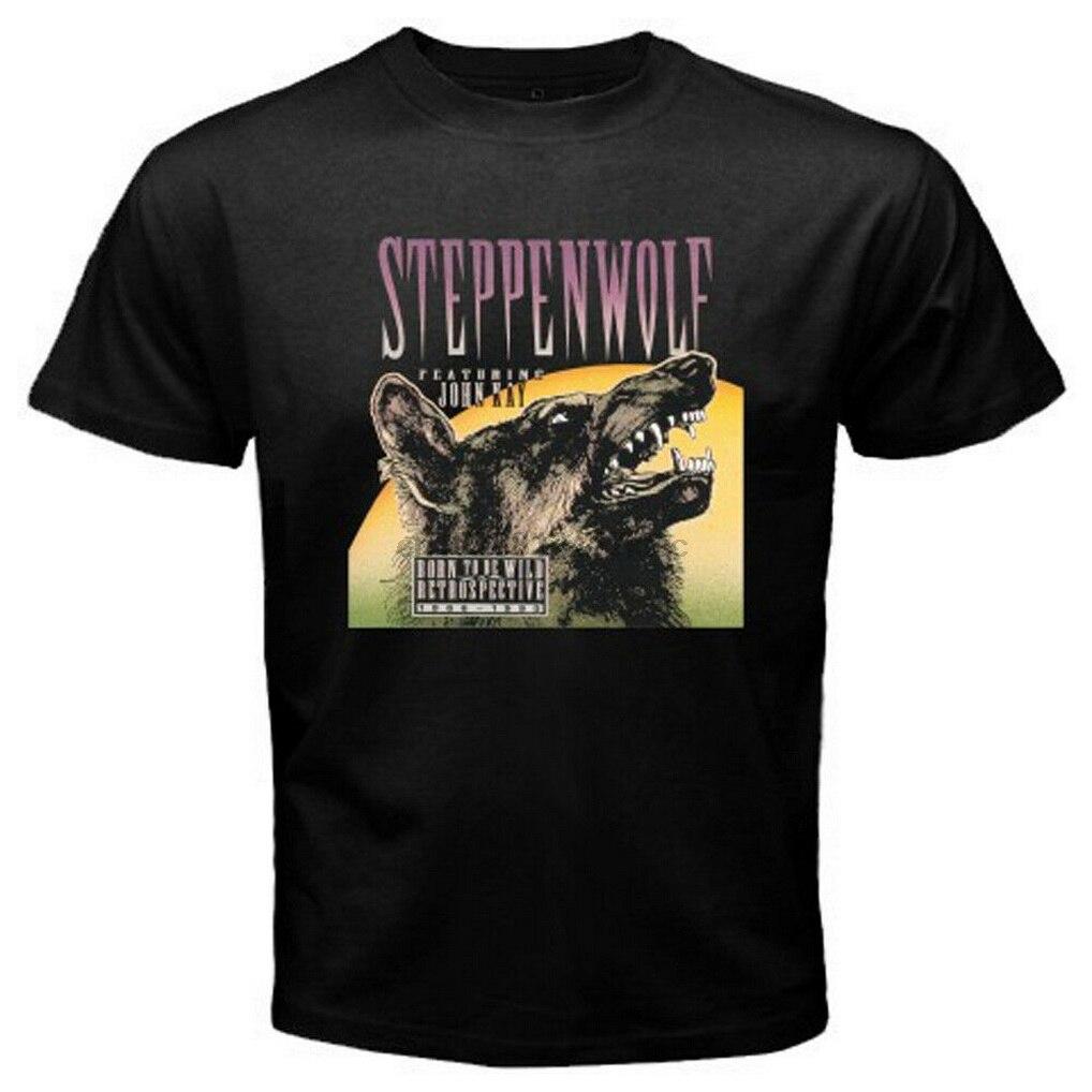 Nueva camiseta negra con leyenda de Steppenwolf Born To Be Wild Rock Band para hombre, camiseta con S-3XL de tamaño completo