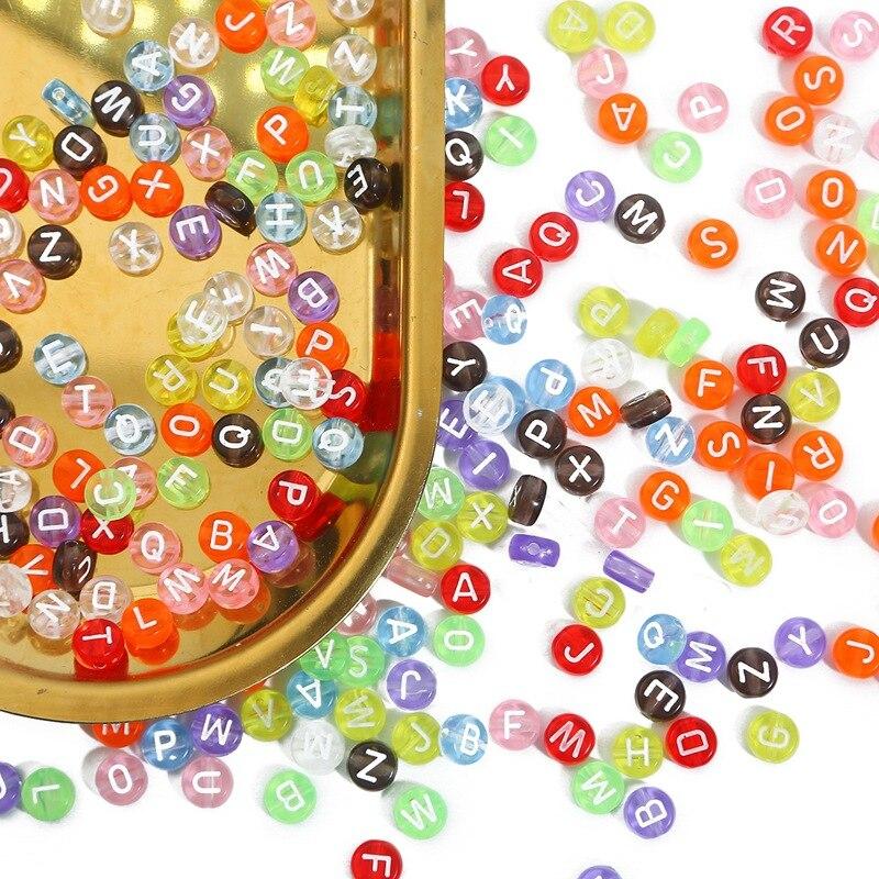 Новые прозрачные акриловые бусины с буквами для детских игрушек из бисера «сделай сам» для изготовления браслетов и ожерелий, аксессуары д...