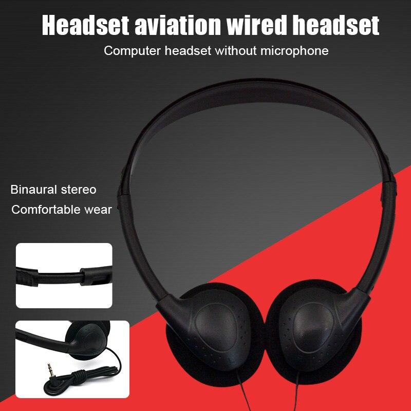 Kopf-montiert Computer Headset Kein Mikrofon Noise Cancelling Sport MP3 Kopfhörer SP99