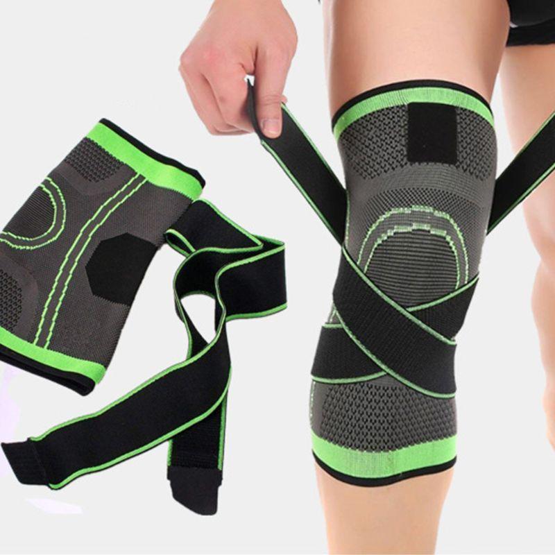 Rodilleras para hombre y mujer, rodilleras de compresión, alivio de dolor articular artritis, para correr, Fitness, rodilleras elásticas con correa