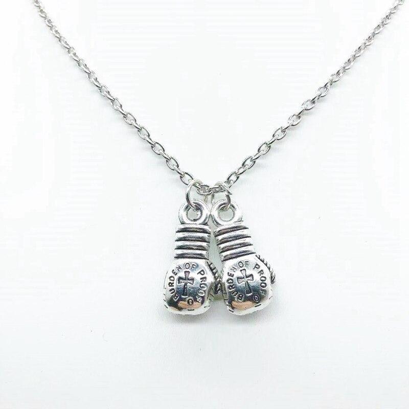 2019 супер индивидуальность креативные Боксерские перчатки ожерелье персональные боксерские перчатки кулон ожерелье памятный подарок ожер...