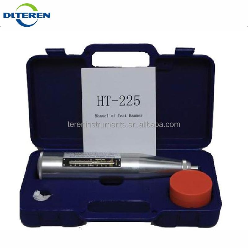 Martelo de Teste Concreto com Instrumento Tester com Faixa de Teste 10 a 60mpa Teren Portátil Preto Case Concreto Rebote