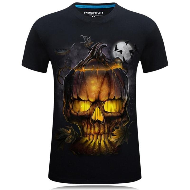 Schönen Sommer Stil 3D T-shirts Männer Schädel Printed Hip Hop Jungen Tops Beiläufige Kurze Hülse O-ansatz T Hemd Tees Männlichen camiseta 5XL 7XL