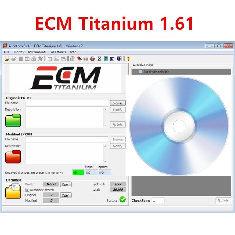 AliExpress - For ECU tool ECM TITANIUM 1.61 With 18259+ Driver ECM 26000 Drivers