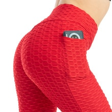 Booty Lifting Leggings Women Pocket Yoga Pants New High Elastic Peach Hip Lifting Sweat Absorbing Fitness Pants