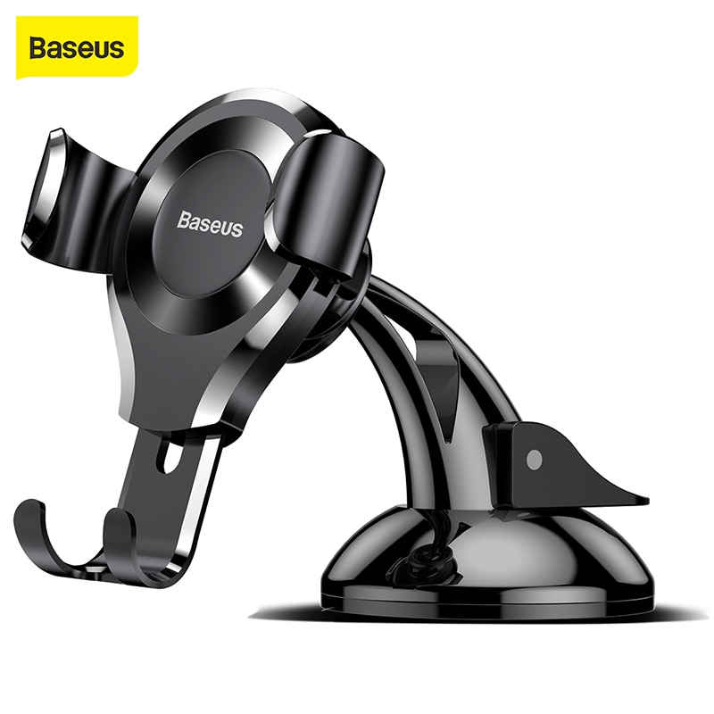 Baseus-Soporte de teléfono móvil para coche, Soporte con ventosa para iPhone X,...