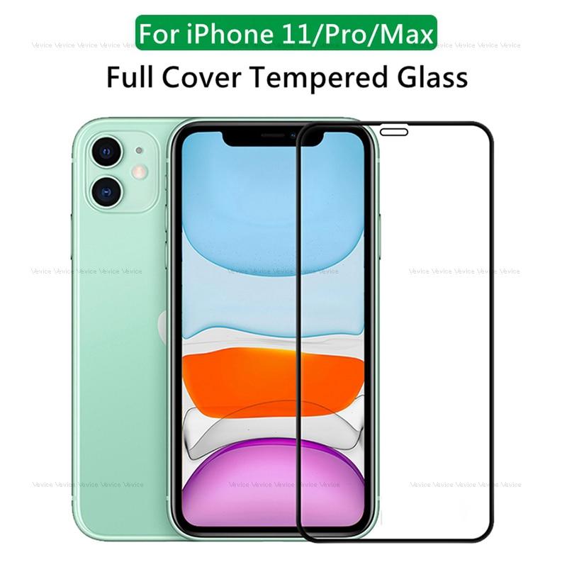 Vidrio Templado Protcetive para iPhone 11 Pro 10 X XR XS Max, Protector de pantalla para iphone 11Pro MAX XsMax Xr Xs 11, vidrio de cubierta completa